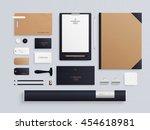 corporate identity template set.... | Shutterstock . vector #454618981
