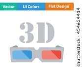 3d goggle icon. flat color...
