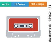 audio cassette  icon. flat...