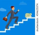 business achievement ... | Shutterstock .eps vector #454625374