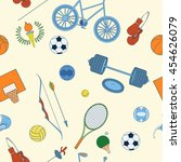 seamless sport rio 2016 pattern ... | Shutterstock .eps vector #454626079