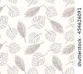 seamless floral pattern can be... | Shutterstock .eps vector #454626091