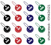 set of sale tags. | Shutterstock .eps vector #454626121