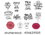 tea is always a good idea. tea... | Shutterstock .eps vector #454629505