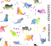 Cute Cat Seamless Pattern....