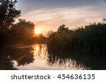 danube delta sunset | Shutterstock . vector #454636135