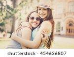two beautiful young women...   Shutterstock . vector #454636807