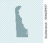 map of delaware | Shutterstock .eps vector #454639957