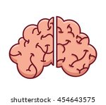 brain storming mind icon vector ... | Shutterstock .eps vector #454643575