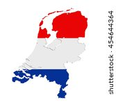 3d rendering of holland map and ... | Shutterstock . vector #454644364