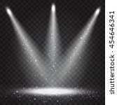 realistic vector beam lights.... | Shutterstock .eps vector #454646341