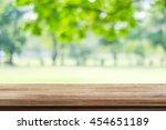 empty wooden table over blurred ... | Shutterstock . vector #454651189