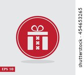 gift icon. vector illustration. ...