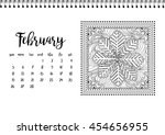 desk calendar horizontal... | Shutterstock .eps vector #454656955