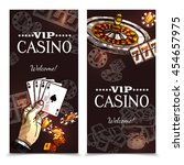 vip casino color vertical... | Shutterstock .eps vector #454657975