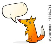cartoon fox cub with speech... | Shutterstock . vector #454661761