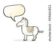 Cartoon Donkey With Speech...