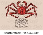 red king crab. vector... | Shutterstock .eps vector #454663639