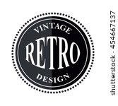 retro vintage logo template ... | Shutterstock .eps vector #454667137