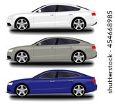 realistic car. sport sedan | Shutterstock .eps vector #454668985