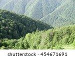 green forest mountain ridges of ... | Shutterstock . vector #454671691