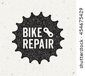 bike repair logo. bicycle... | Shutterstock .eps vector #454675429