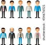 set of vector business peoples... | Shutterstock .eps vector #454676521