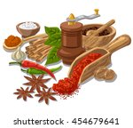 illustration of different... | Shutterstock .eps vector #454679641