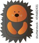 drawing of a cute cartoon light ... | Shutterstock .eps vector #454682431