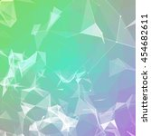 abstract colorful triangulated...   Shutterstock .eps vector #454682611