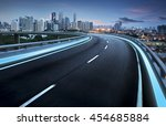 highway overpass motion blur... | Shutterstock . vector #454685884