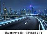 highway overpass motion blur... | Shutterstock . vector #454685941