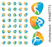 rio summer olympic games icons... | Shutterstock .eps vector #454687771