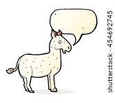 Cartoon Mule With Speech Bubble