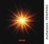 abstract bright golden shimmer... | Shutterstock .eps vector #454694461