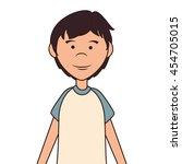 teenager boy cartoon  isolated... | Shutterstock .eps vector #454705015