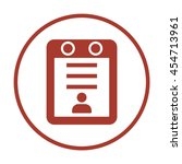 calendar icon. flat design. | Shutterstock .eps vector #454713961