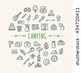 camping icons. travel symbols ... | Shutterstock .eps vector #454720411