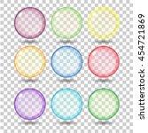 set transparent glass sphere... | Shutterstock .eps vector #454721869
