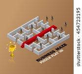 business maze concept 3d... | Shutterstock .eps vector #454723195