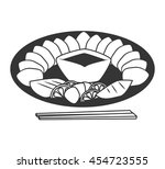 seafood and gastronomy theme... | Shutterstock .eps vector #454723555