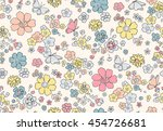 trendy seamless floral pattern... | Shutterstock .eps vector #454726681