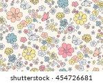 trendy seamless floral pattern... | Shutterstock .eps vector #454726681