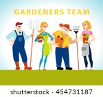 vector flat profession... | Shutterstock .eps vector #454731187