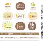 vector vegan product cute sign... | Shutterstock .eps vector #454736011
