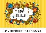 birthday bubble hand drawn...   Shutterstock .eps vector #454753915