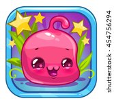 funny jelly alien character....