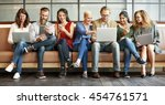diversity people connection... | Shutterstock . vector #454761571