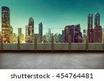 roof top balcony in the...   Shutterstock . vector #454764481