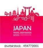 japan travel destination vector. | Shutterstock .eps vector #454773001